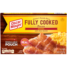 OSCAR MAYER Original Fully Cooked Bacon 2.52 oz Box 2.5 oz