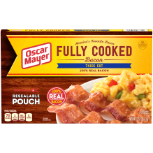 OSCAR MAYER Thick Cut Fully Cooked Bacon 2.52 oz Box 2.5 oz