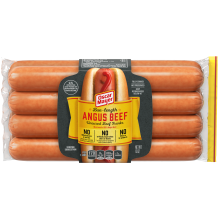 Bun-Length Angus Beef Uncured Franks 8 Count Pack