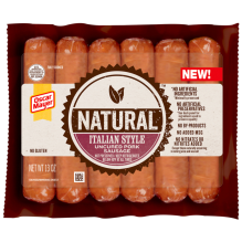 Natural Italian Style Uncured Pork Sausage