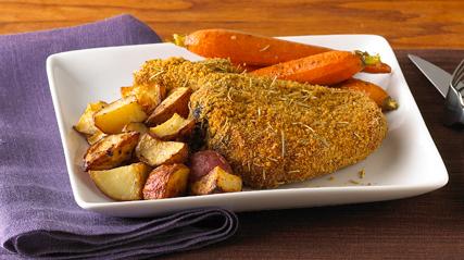 Rosemary-Dijon Pork Chops & Oven Potatoes Dinner