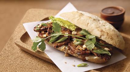 Asian Pork Tenderloin Sandwich