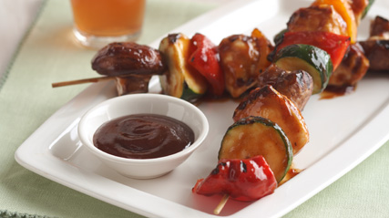 BBQ Grilled Chicken Kabobs