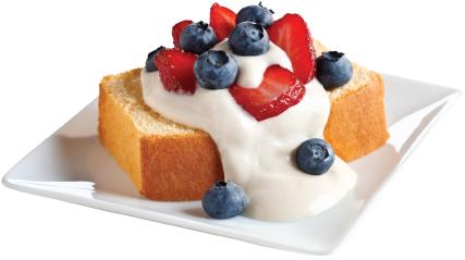 BREAKSTONE'S Creamy Berry-Topped Dessert