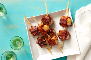 Bacon-Wrapped BBQ Scallops