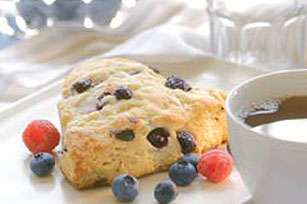 Blueberry-White Chocolate Chunk Scones