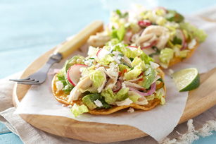 Chicken & Feta Salad Tostadas