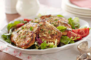 Chicken & Mixed Greens Salad with Milanese Crumbs