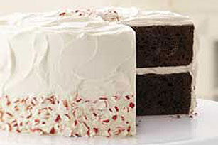 Chocolate-Candy Cane Cake