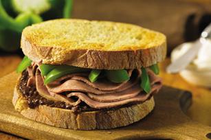 Cracked Peppercorn Roast Beef Sandwich