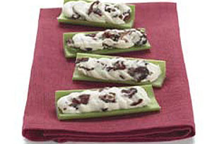 Creamy Cranberry-Stuffed Celery