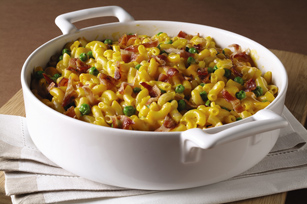 Easy Mac N Cheese With Bacon And Peas