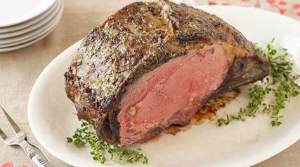 Rôti de côte de bœuf aux herbes et à l'ail