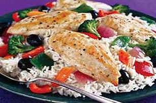Greek Chicken and Rice Dinner