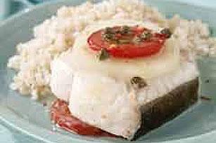 Mediterranean Baked Halibut