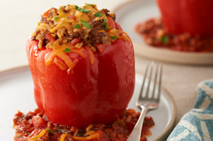Mexican Stuffed Peppers for Two