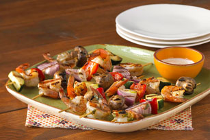 Party Shrimp and Vegetable Kabobs