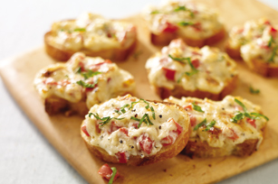 Pepper-Parm Crostini
