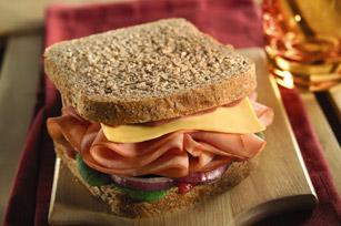 Raspberry, Ham & Spinach Sandwich