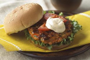 Salmon Burger Sandwich