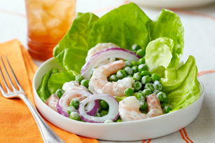 5-Minute Shrimp and Pea Salad