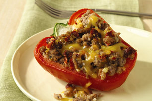 Stuffed Peppers with Sun-Dried Tomatoes and Veal