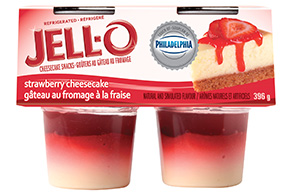 JELL-O Refrigerated Cheesecake Snacks Strawberry 396g