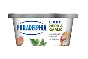 PHILADELPHIA CREAM CHEESE-SOFT LIGHT HERB AND GARLIC - 227 gr.