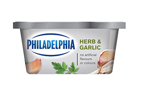 PHILADELPHIA CREAM CHEESE-SOFT HERB AND GARLIC - 227 gr.