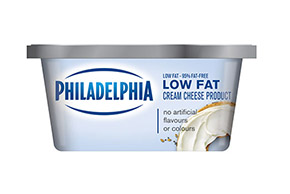 PHILADELPHIA CREAM CHEESE-SOFT 95% FAT FREE LOW FAT - 227 gr.