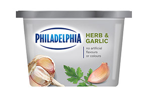 PHILADELPHIA CREAM CHEESE-SOFT HERB AND GARLIC - 340 gr.