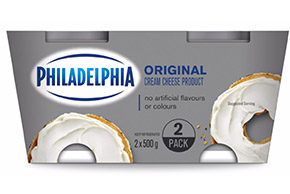 PHILADELPHIA CREAM CHEESE-SOFT ORIGINAL - 2 x 500 gr.