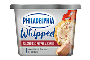 Philadelphia Whipped Roasted Red Pepper & Garlic