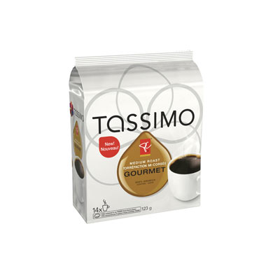 TASSIMO 123 GR PRESIDENTS CHOICE T DISC CAPSULE COFFEE-GROUND  GOURMET MEDIUM ROAST     1 WRAPPER EACH