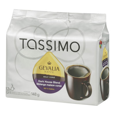 GEVALIA 148 GR T DISC CAPSULE COFFEE-GROUND  HOUSE BLEND-DARK     1 BAG/POUCH EACH