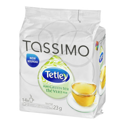 TASSIMO TETLEY Pure Green Tea