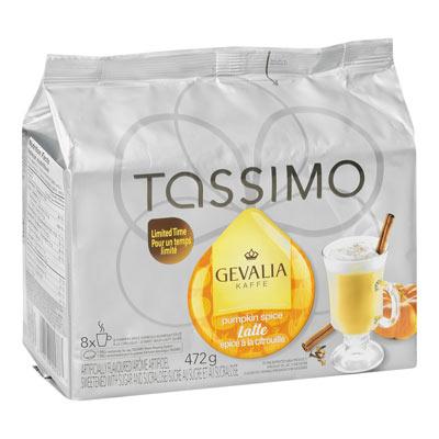 TASSIMO 472 GR GEVALIA T DISC CAPSULE COFFEE-GROUND  PUMPKIN SPICE     1 WRAPPER EACH