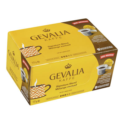 GEVALIA 117 GR COFFEE PODS  SIGNATURE BLEND     1 WRAPPER EACH