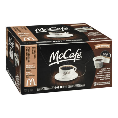 MC CAFE 129 GR COFFEE PODS  PREMIUM ROAST     1 BOX/CARTON EACH