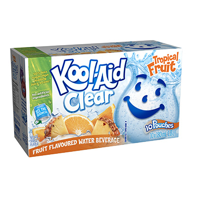 Kool-Aid Clear Tropical Punch 10x180ml