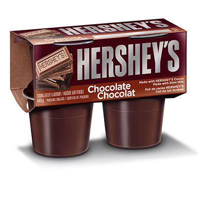 HERSHEY'S Refridgerated Pudding Snacks Chocolate 440g