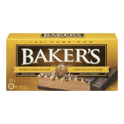 BAKER'S 225 GR SQUARES BAKING INGREDIENTS  SWEET     1 BOX/CARTON EACH
