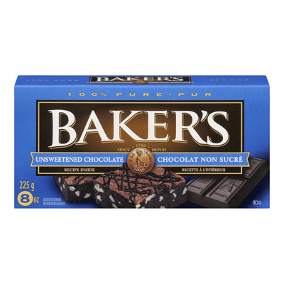 BAKERS Unsweetened Baking Chocolate