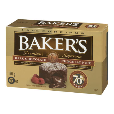 BAKERS 70% Dark Baking Chocolate