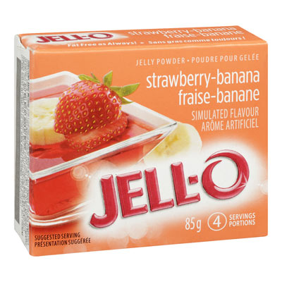 JELL-O 85 GR GELATIN  STRAWBERRY BANANA     1 BOX/CARTON EACH