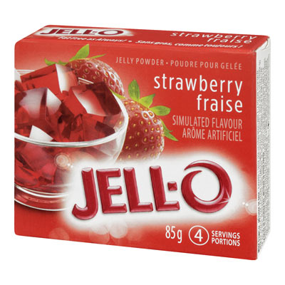JELL-O 85 GR GELATIN  STRAWBERRY     1 BOX/CARTON EACH