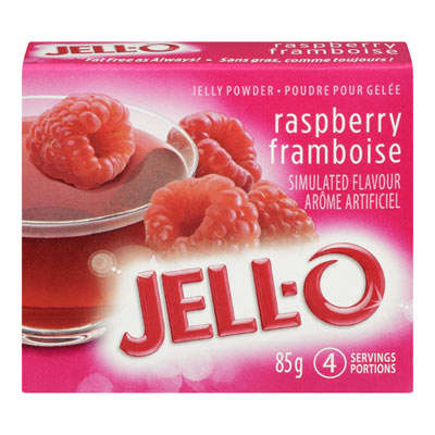 JELL-O 85 GR GELATIN  RASPBERRY     1 BOX/CARTON EACH