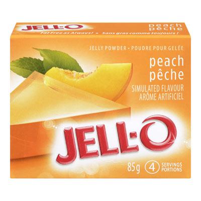 JELL-O Poudre pour gel�e P�CHE 85�g