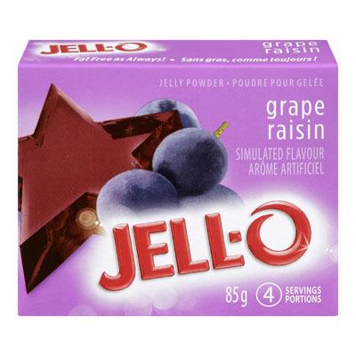 JELL-O Poudre pour gelée RAISIN