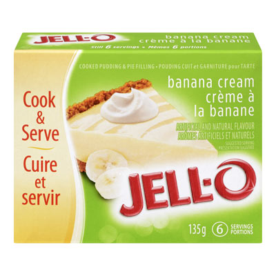 JELL-O Banana Cream Cooked Pudding & Pie Filling